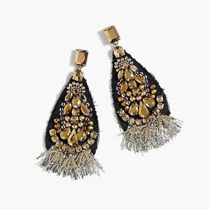 Jcrew Sparkle Teardrop Earrings